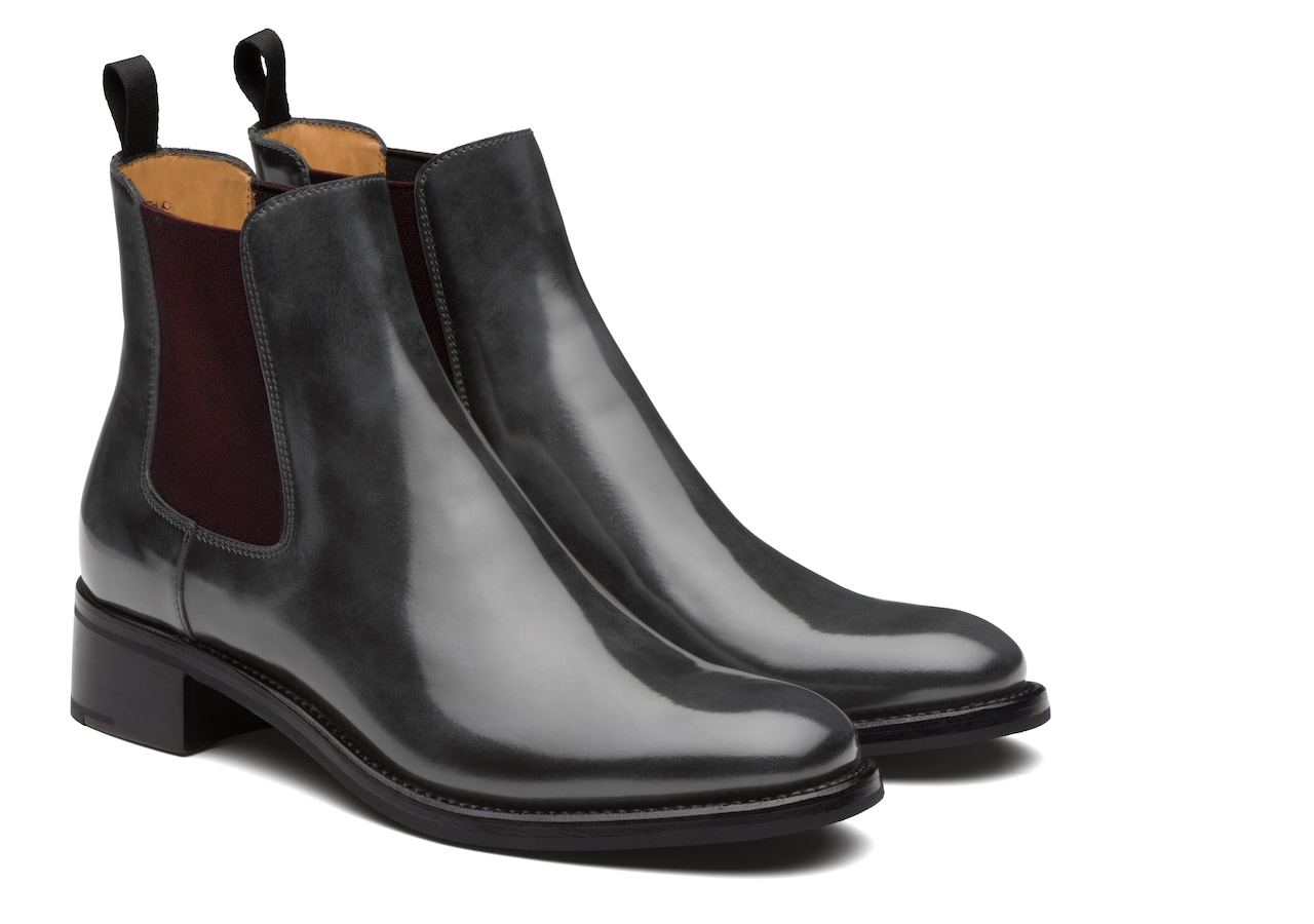 Monmouth 40 Church's Polished Fumè Chelsea Boot Grey