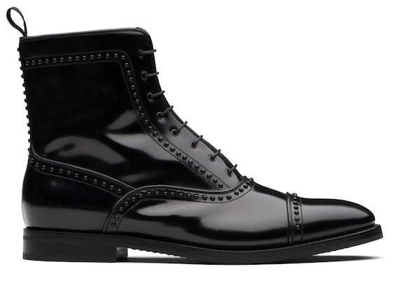 Church's Crissy 2 met. Calf Leather Lace-Up Boot Stud Black