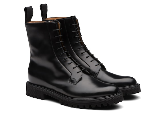 Church's true Polished Binder Lace-Up Boot Black