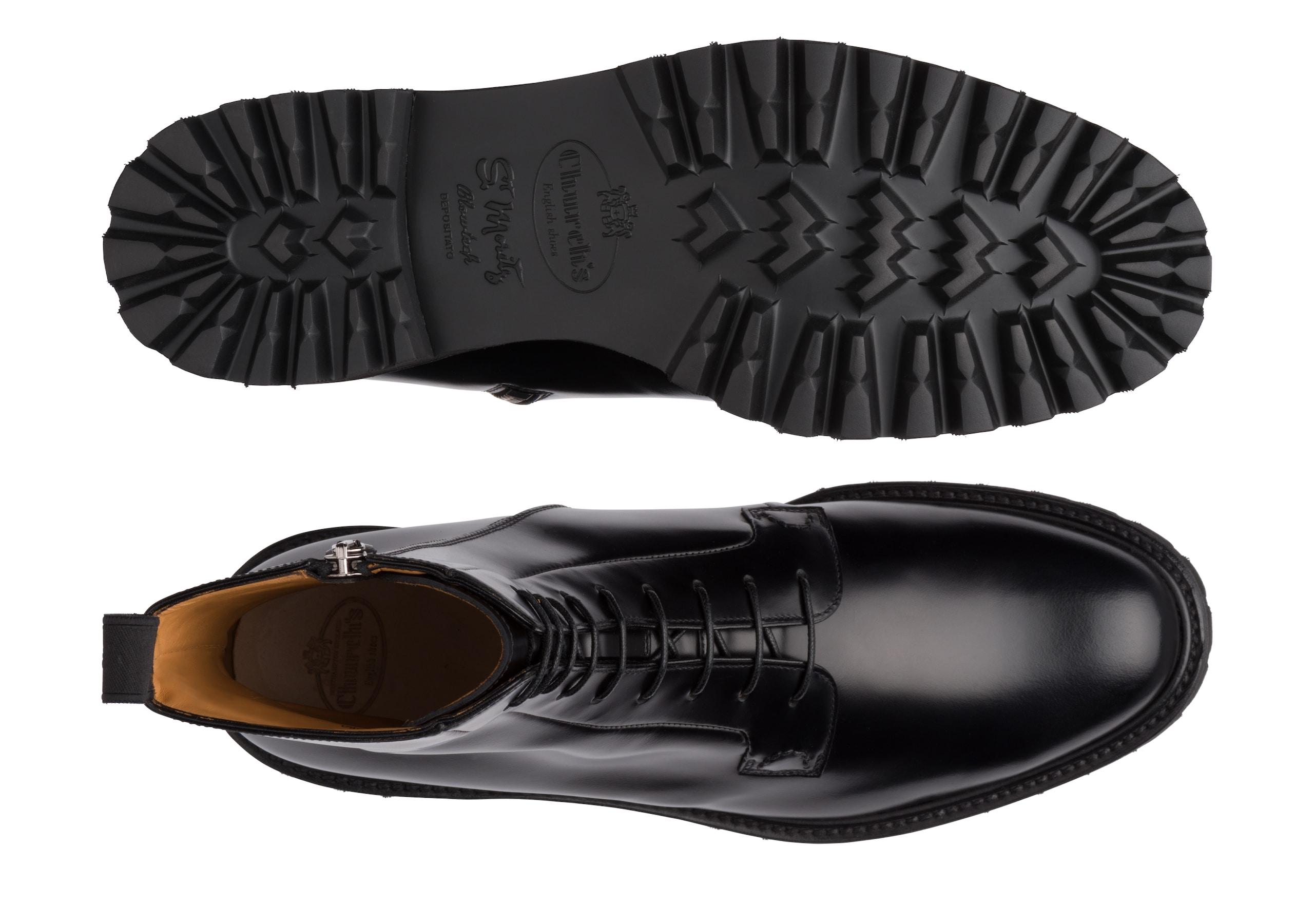 Alexandra t Church's Polished Binder Lace-Up Boot Black