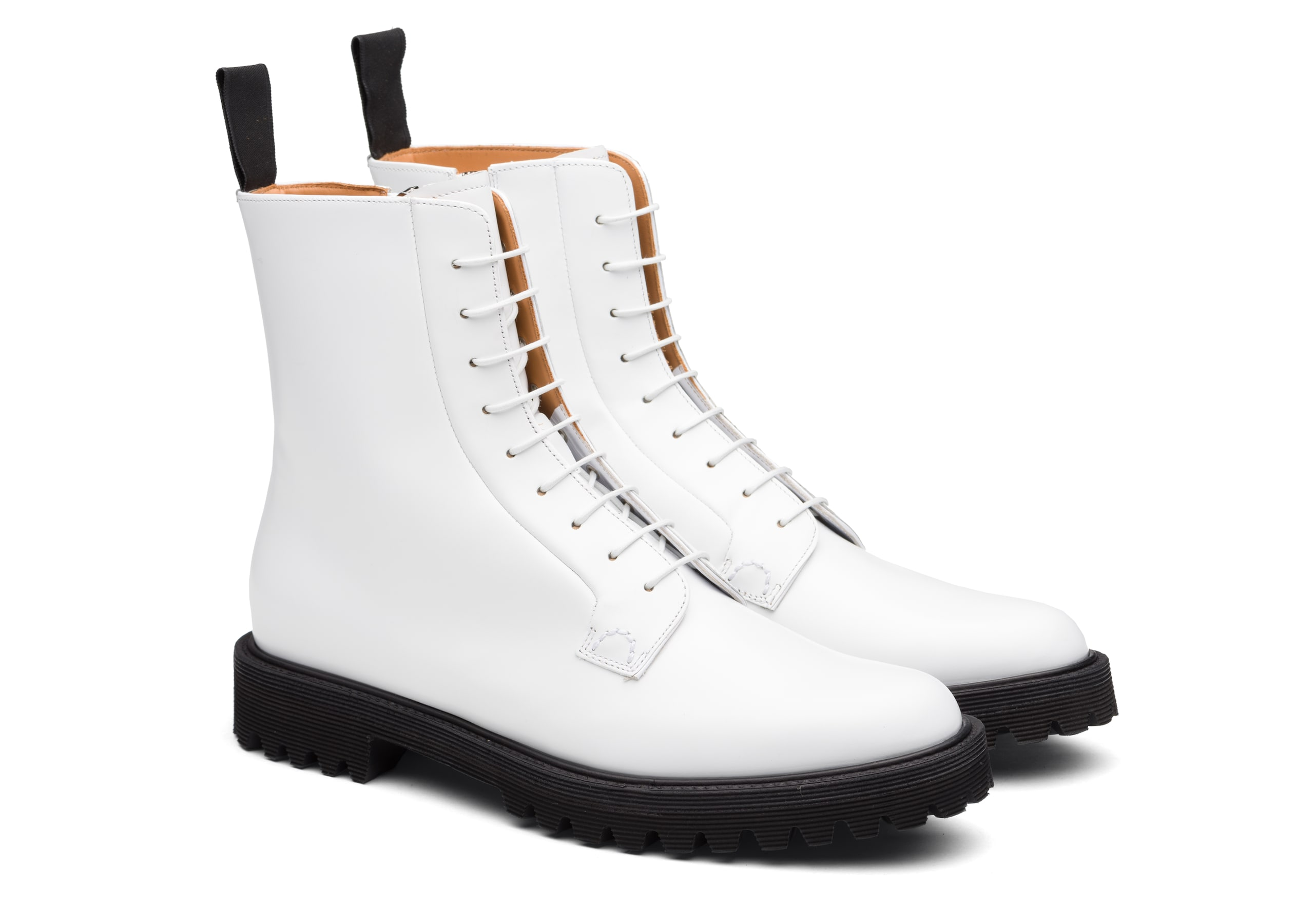 Alexandra t Church's Rois Calf Lace-Up Boot White