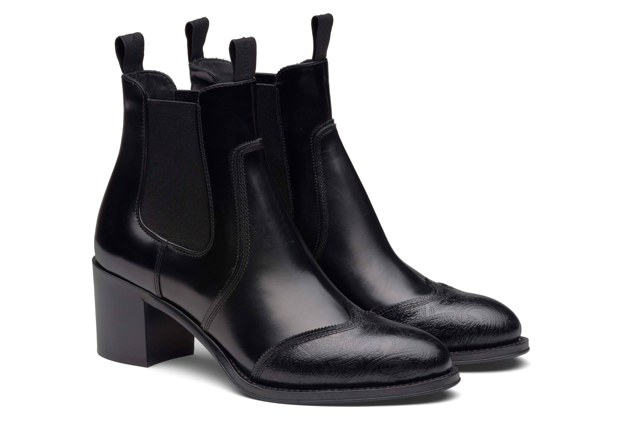 Eve 55 Church's Heeled Chelsea Boot Arabesque Black