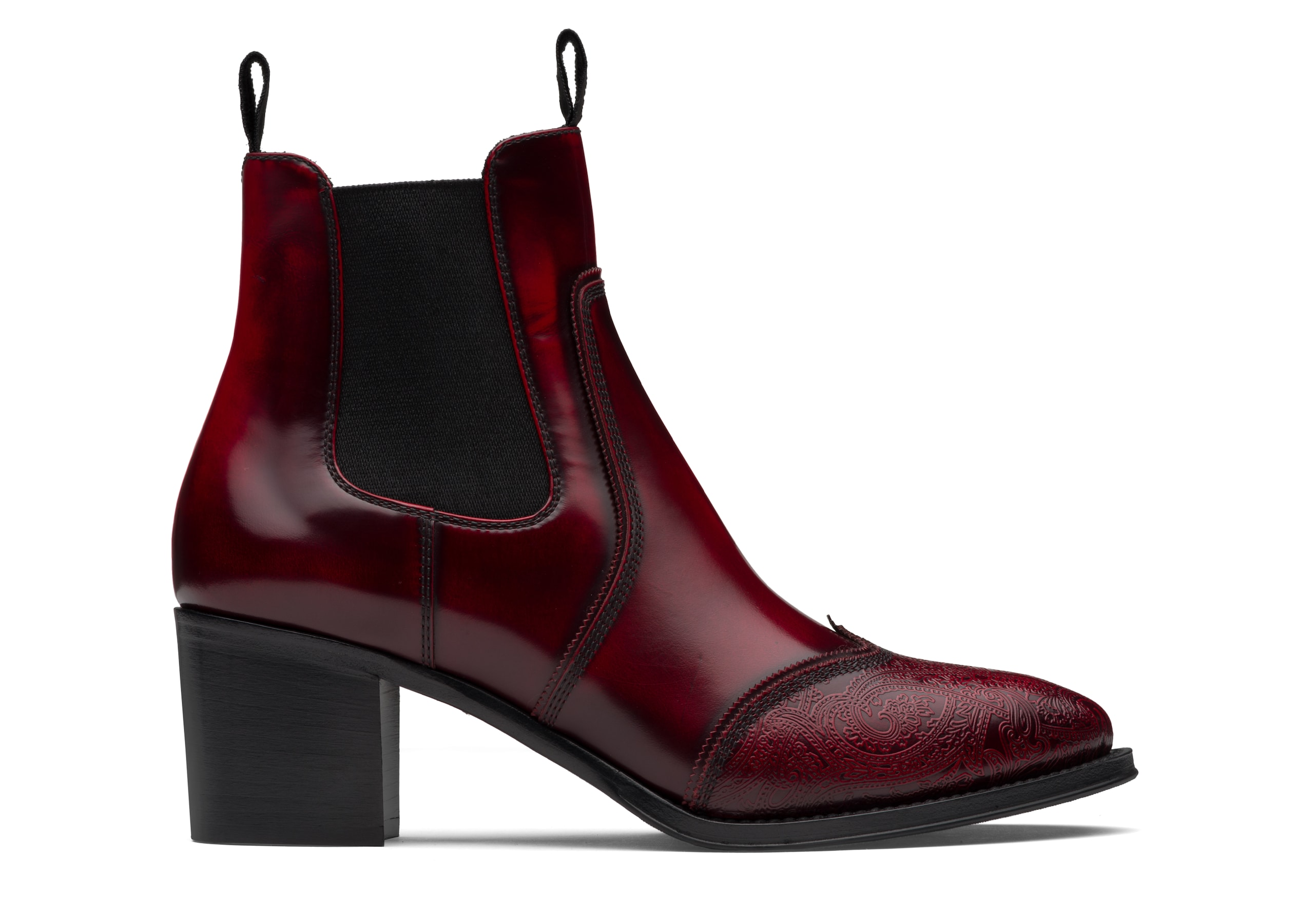 Eve 55 Church's Heeled Chelsea Boot Arabesque Red