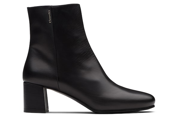 Church's Ellie 55 Calf Leather Heeled Boot Black