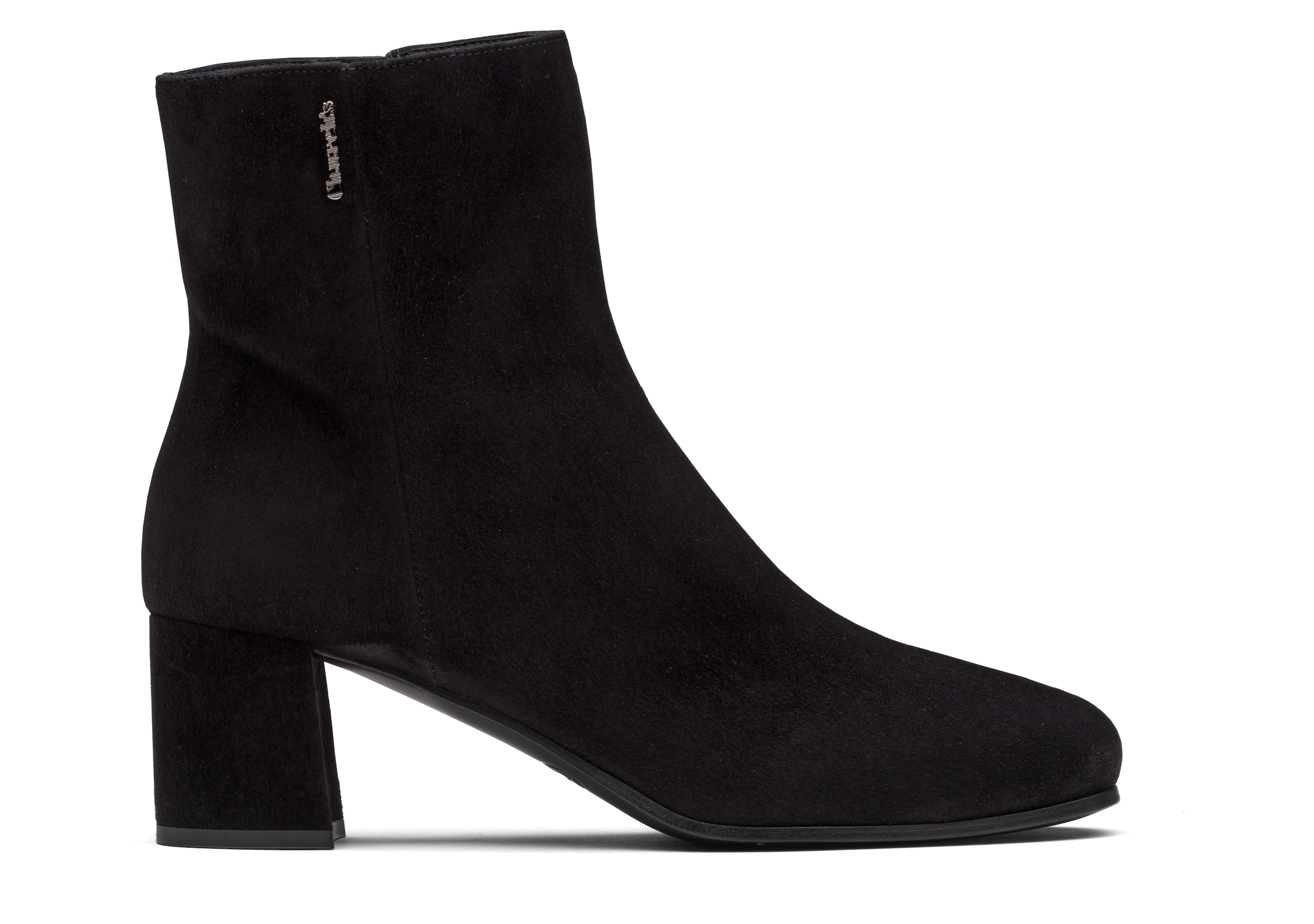 Ellie 55 Church's Suede Heeled Boot Black