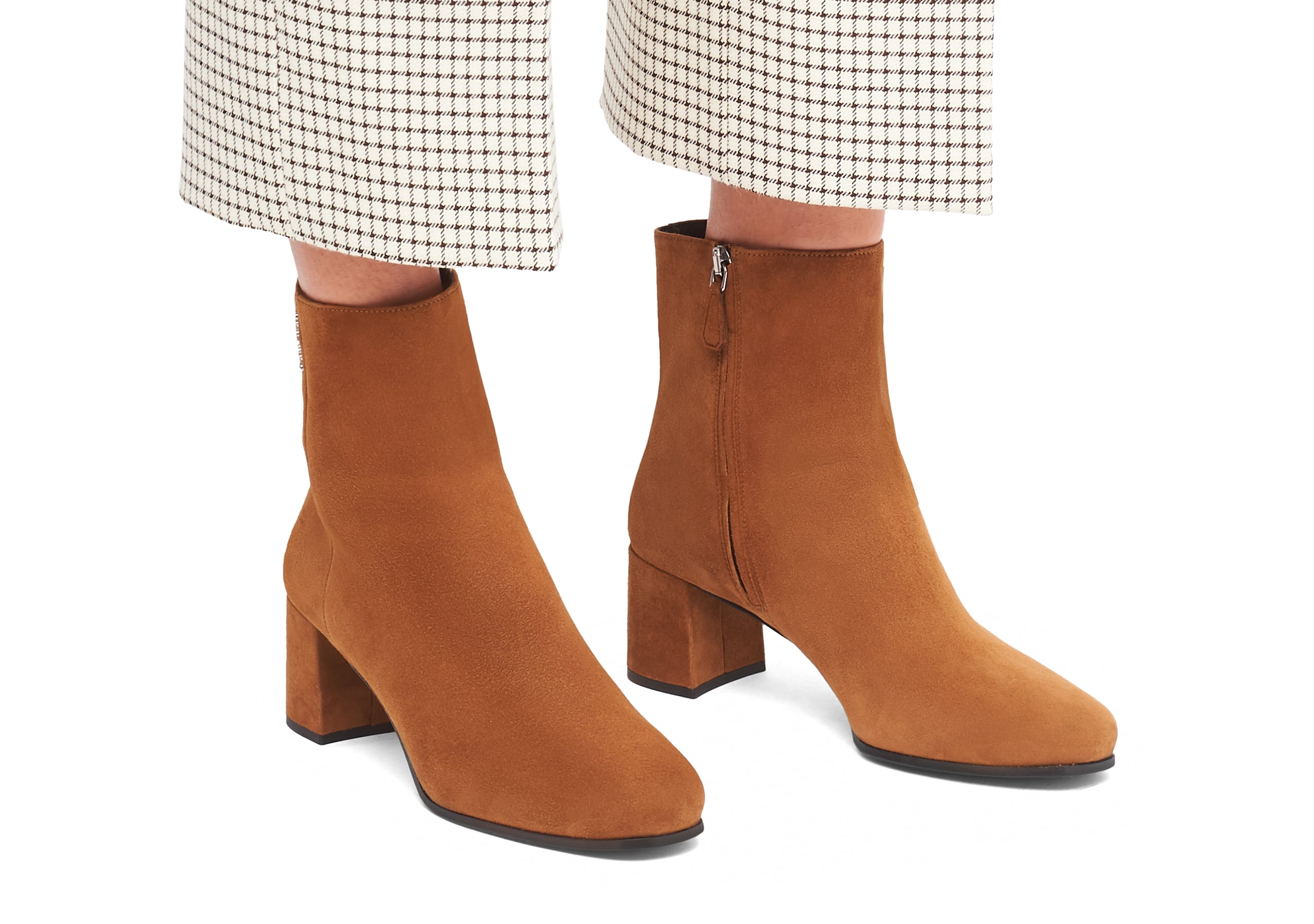 Ellie 55 Church's Suede Heeled Boot Brown