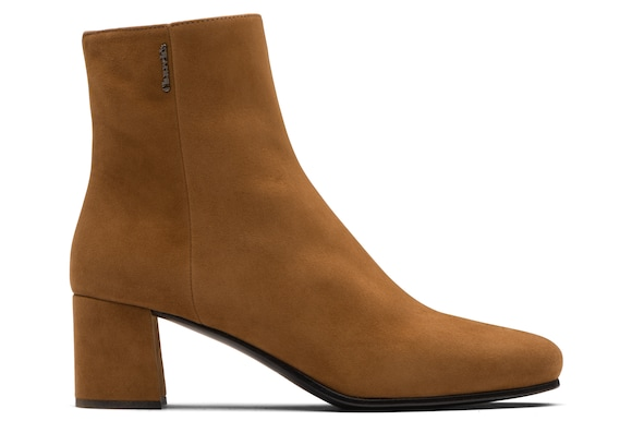 Church's Ellie 55 Suede Heeled Boot Tabac