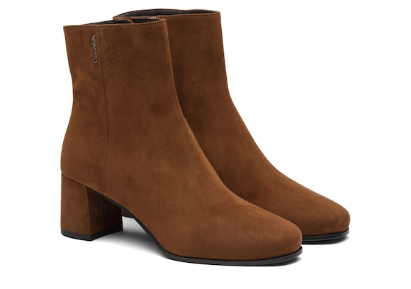 Church's Ellie 55 Suede Heeled Boot Dark oak