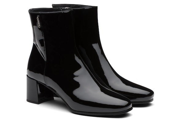 Church's Ellie 55 Patent Leather Heeled Boot Black
