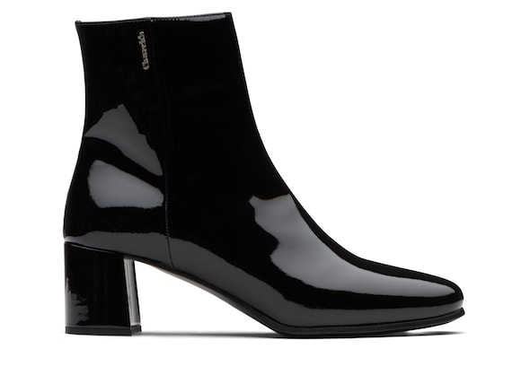 Church's true Patent Leather Heeled Boot Black