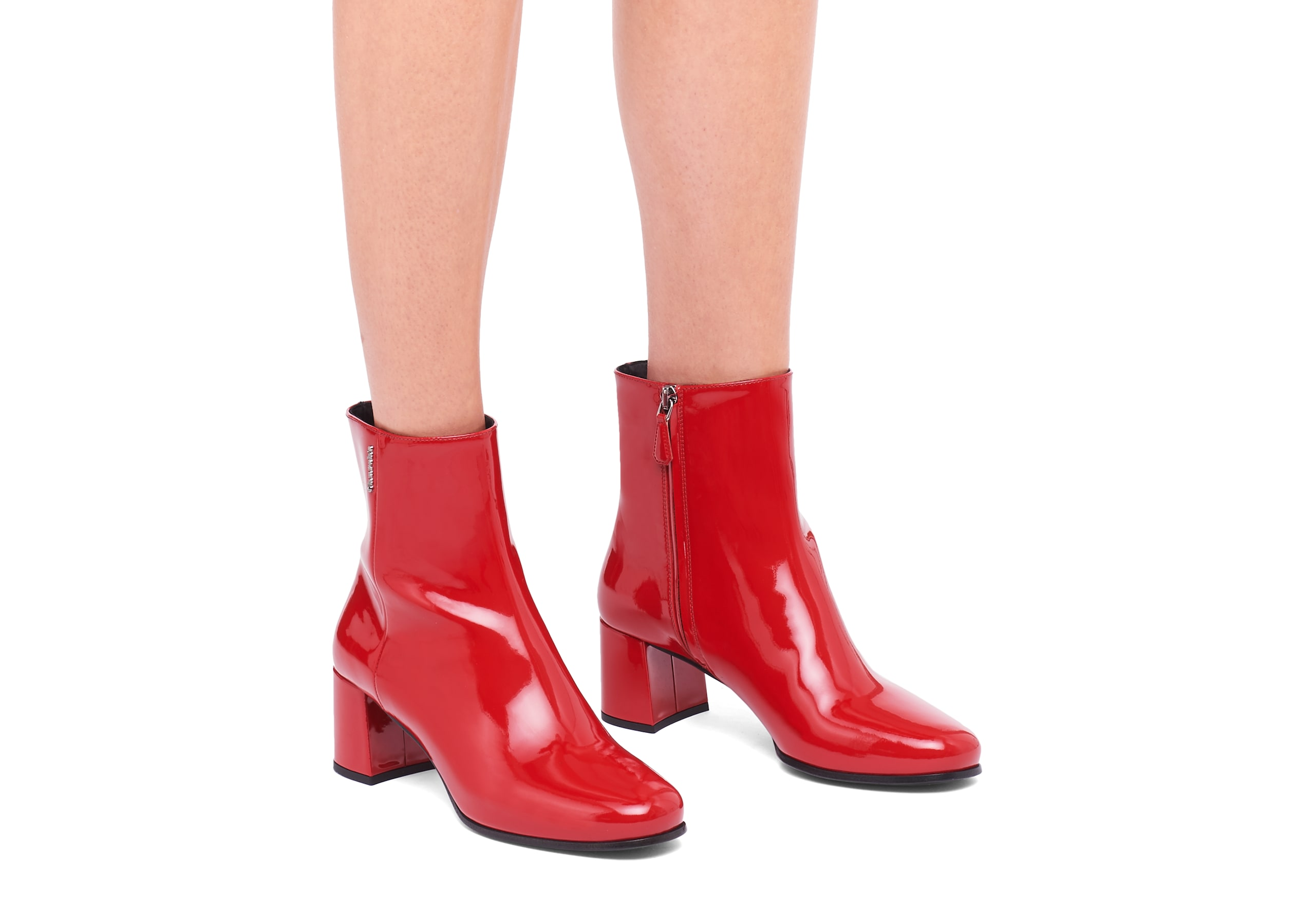 Ellie 55 Church's Patent Leather Heeled Boot Red
