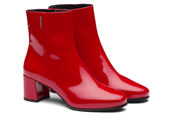 Church's Ellie 55 Patent Leather Heeled Boot Red