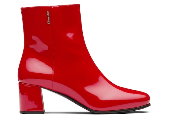 Church's  Patent Leather Heeled Boot Red