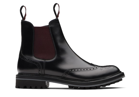 Church's Aura 2 lw Stivaletto Chelsea Brogue Nero/marrone
