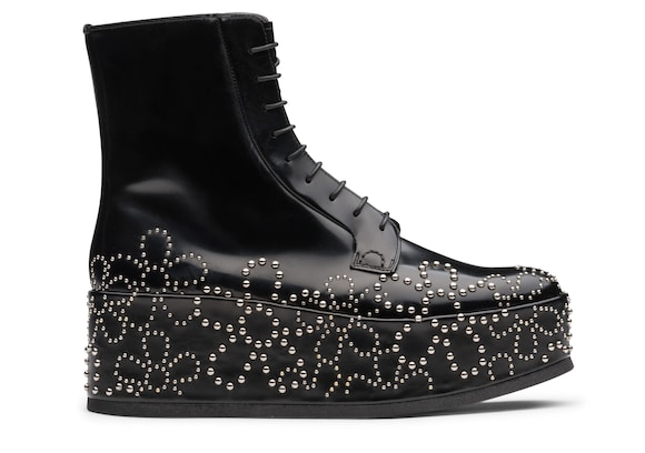 Church's  Polished Binder Lace-Up Boot Stud Black