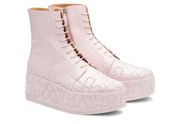 Church's  Polished Binder Lace-Up Boot Stud Pink