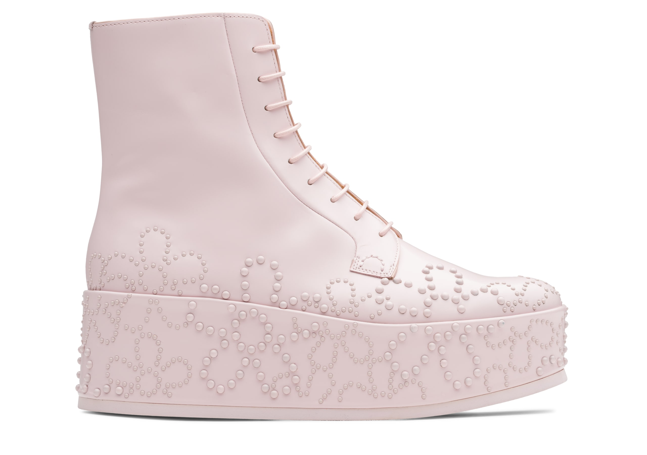 Alexandra 10 Church's Polished Binder Lace-Up BootStud Pink