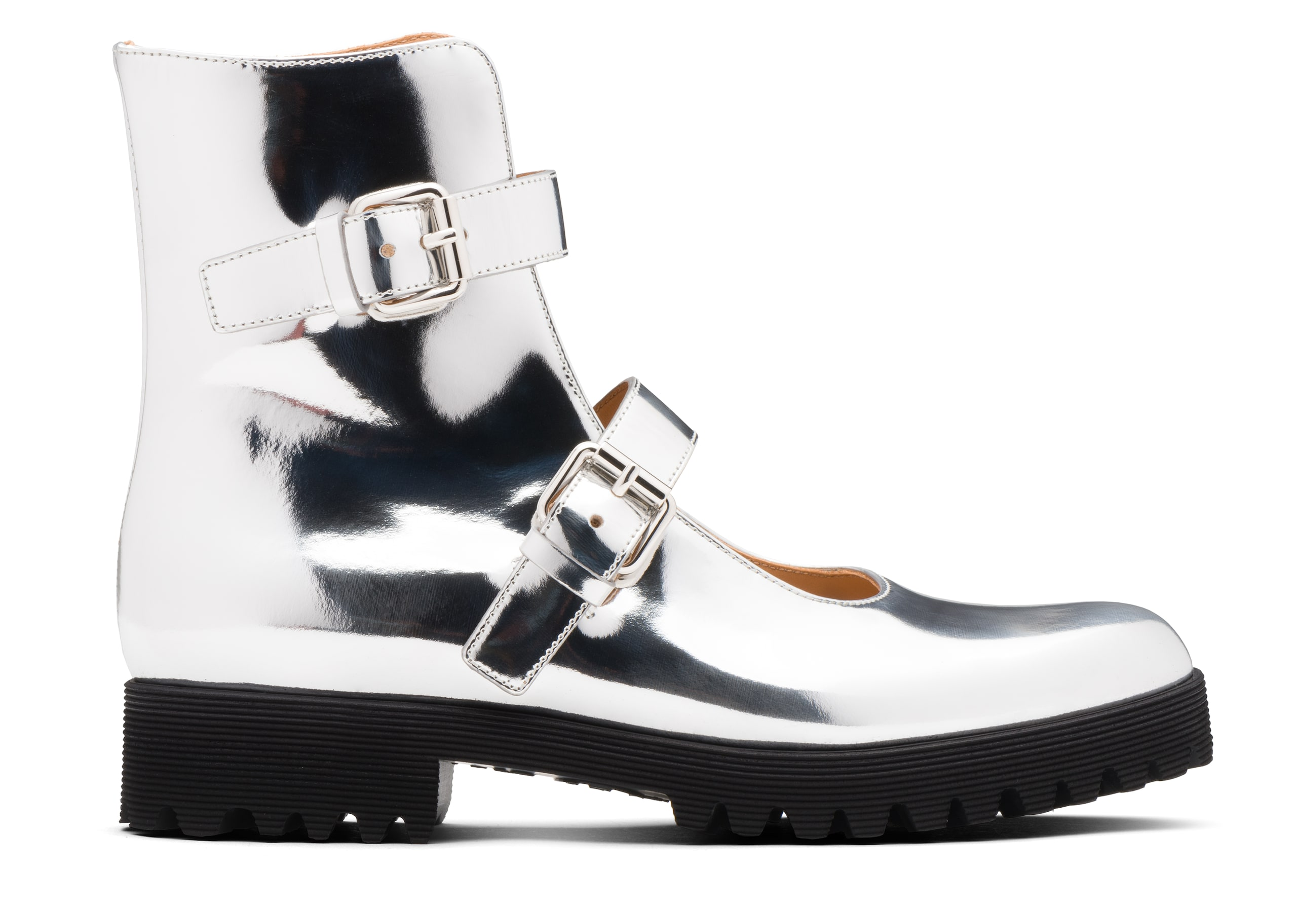 Kn2 Church's Mirror Calf Leather Mary Jane Boot Gold/silver