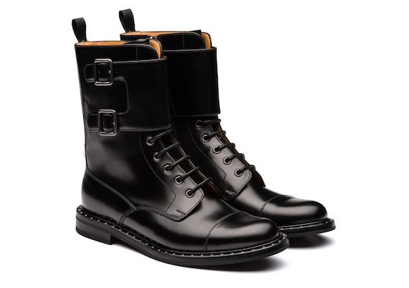 Church's true Rois Calf Lace-Up & Monk Boot Black