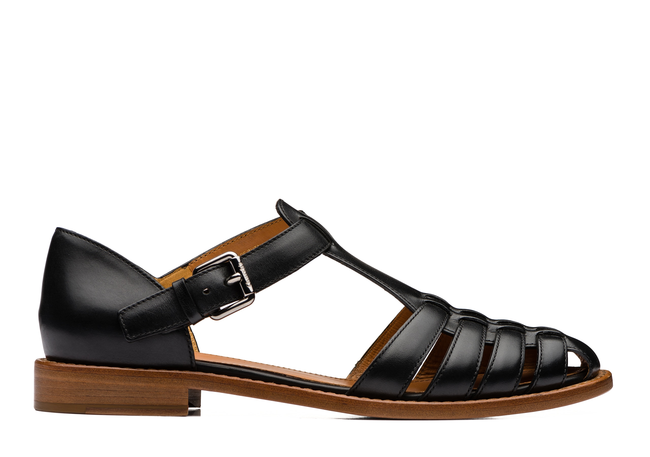 Kelsey Church's Prestige Calf Leather Sandal Black