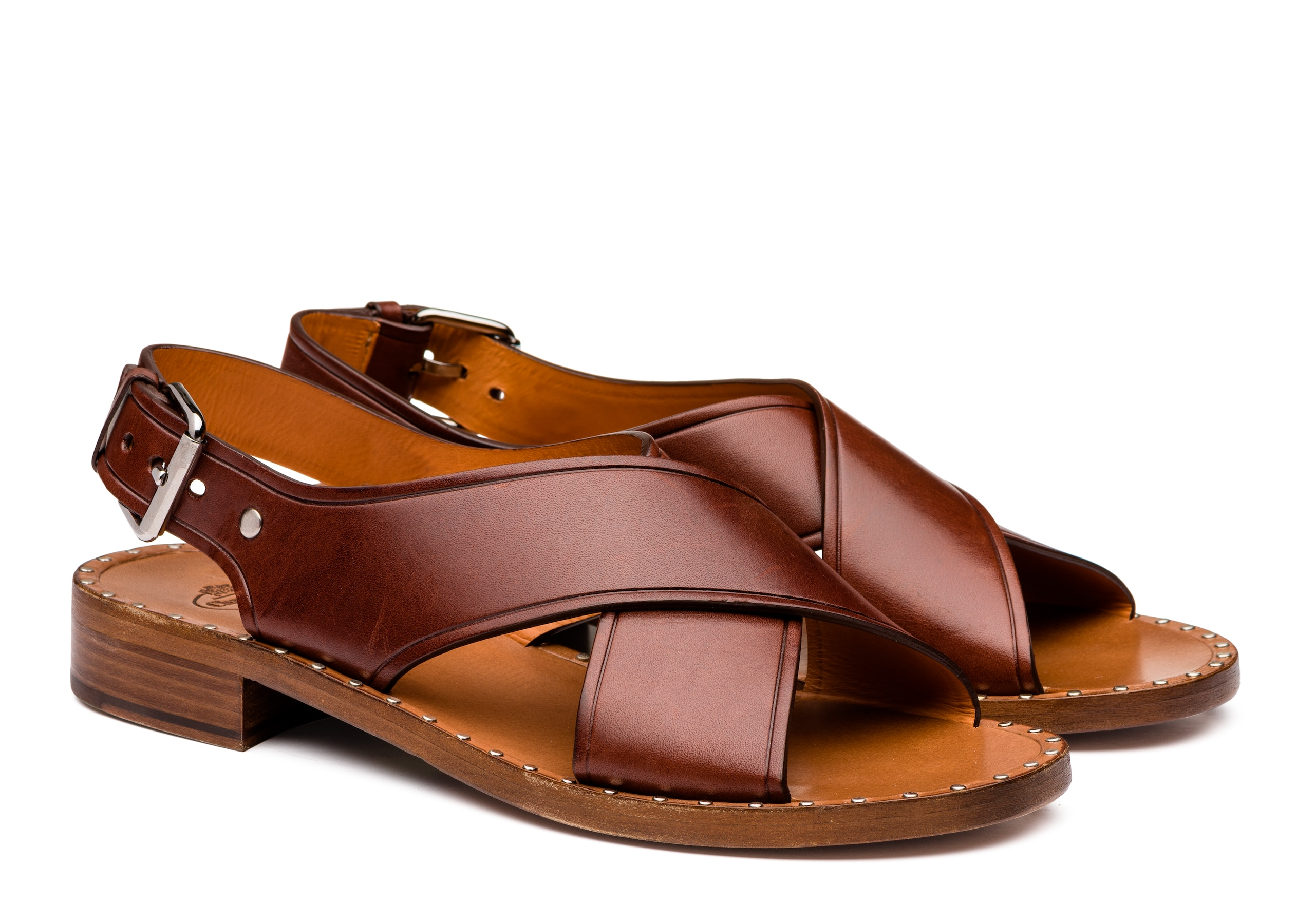 Rhonda Church's Sandalo in Pelle di Vitello Marrone