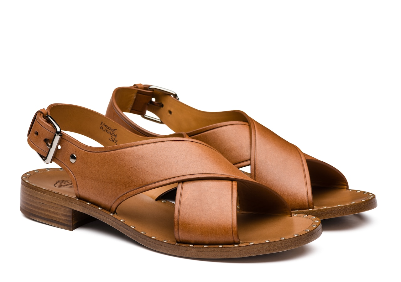 Rhonda Church's Calf Leather Sandal Brown