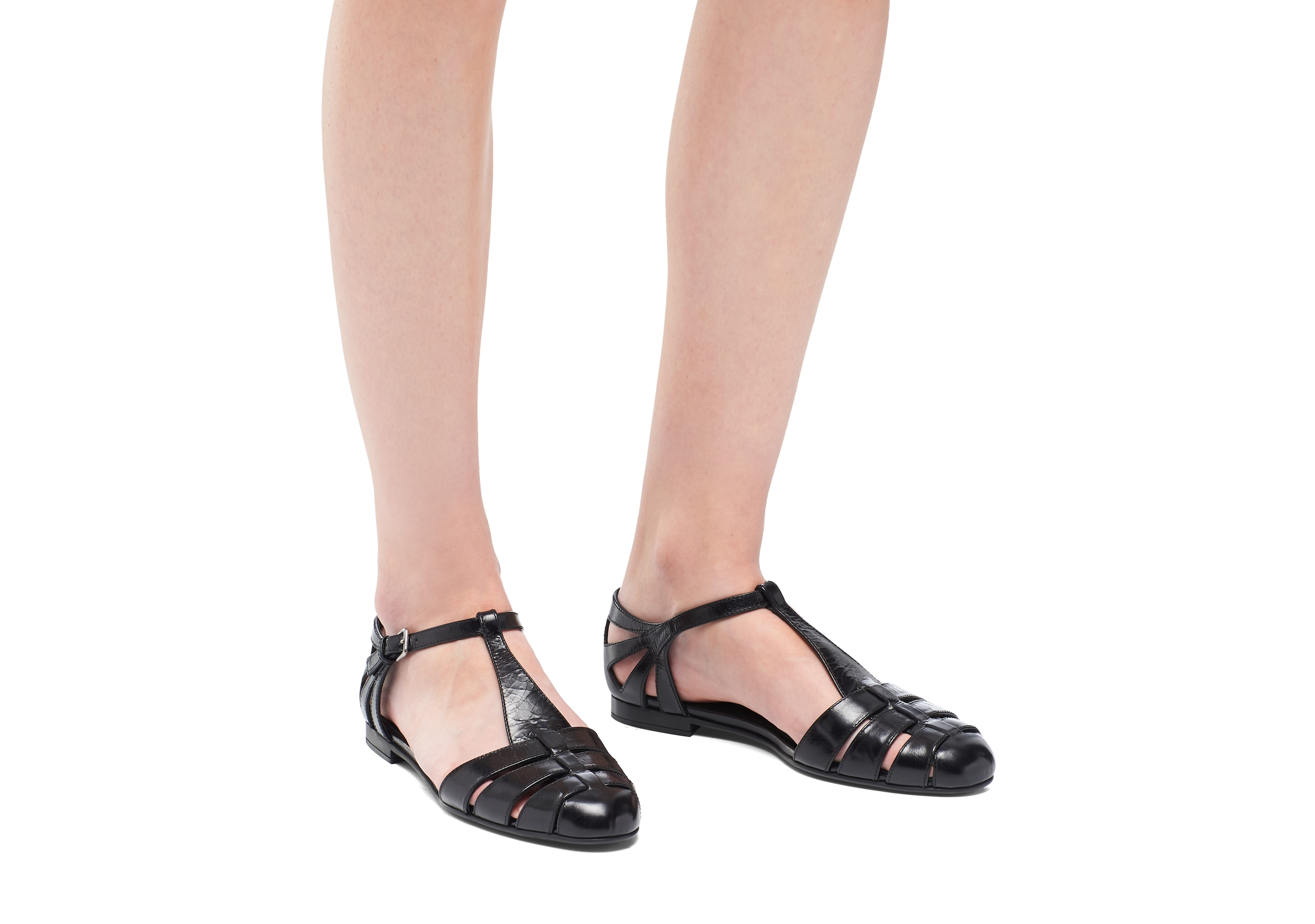 Rainbow Church's Shine Calf Leather T-Bar Sandal Black