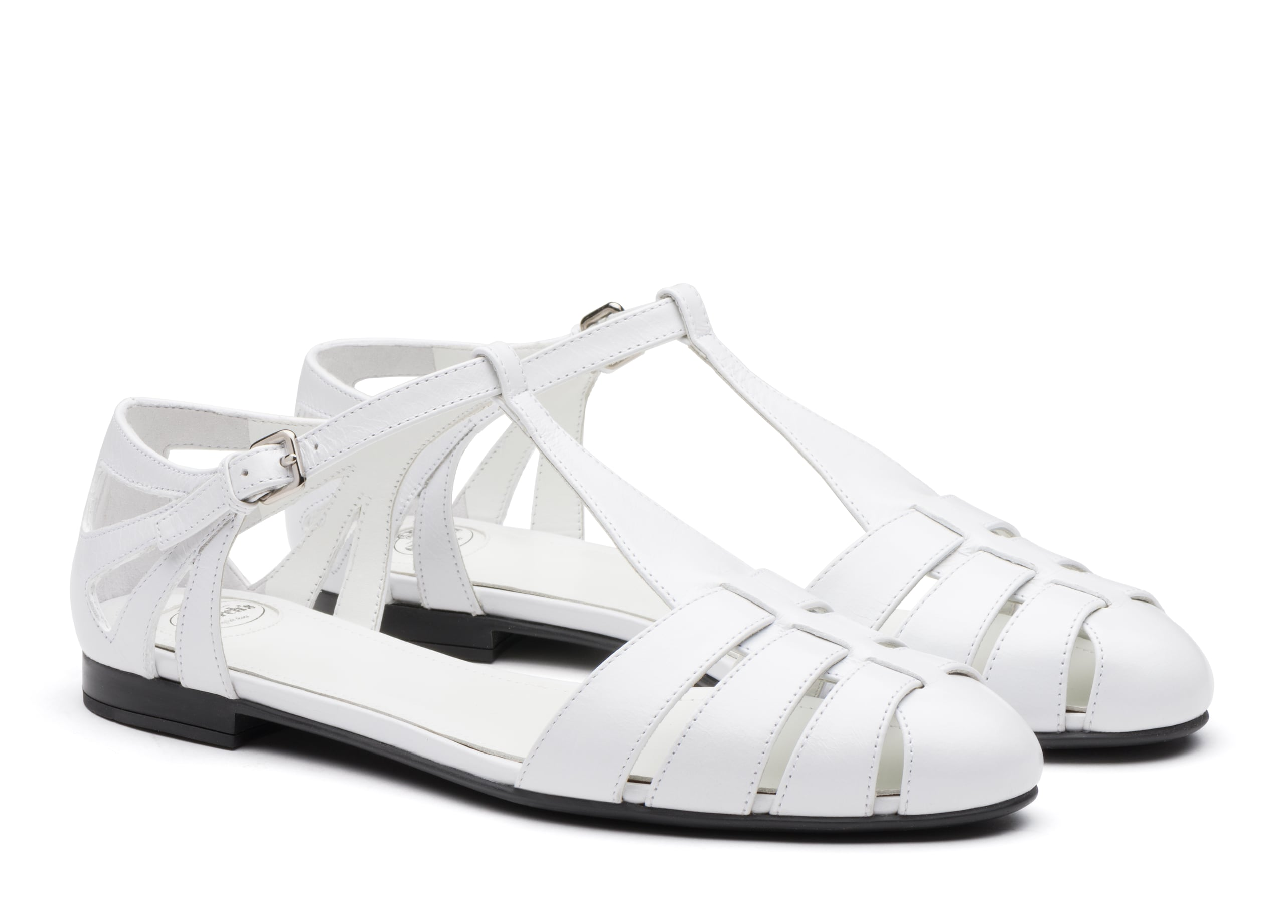 Rainbow Church's Shine Calf Leather T-Bar Sandal White