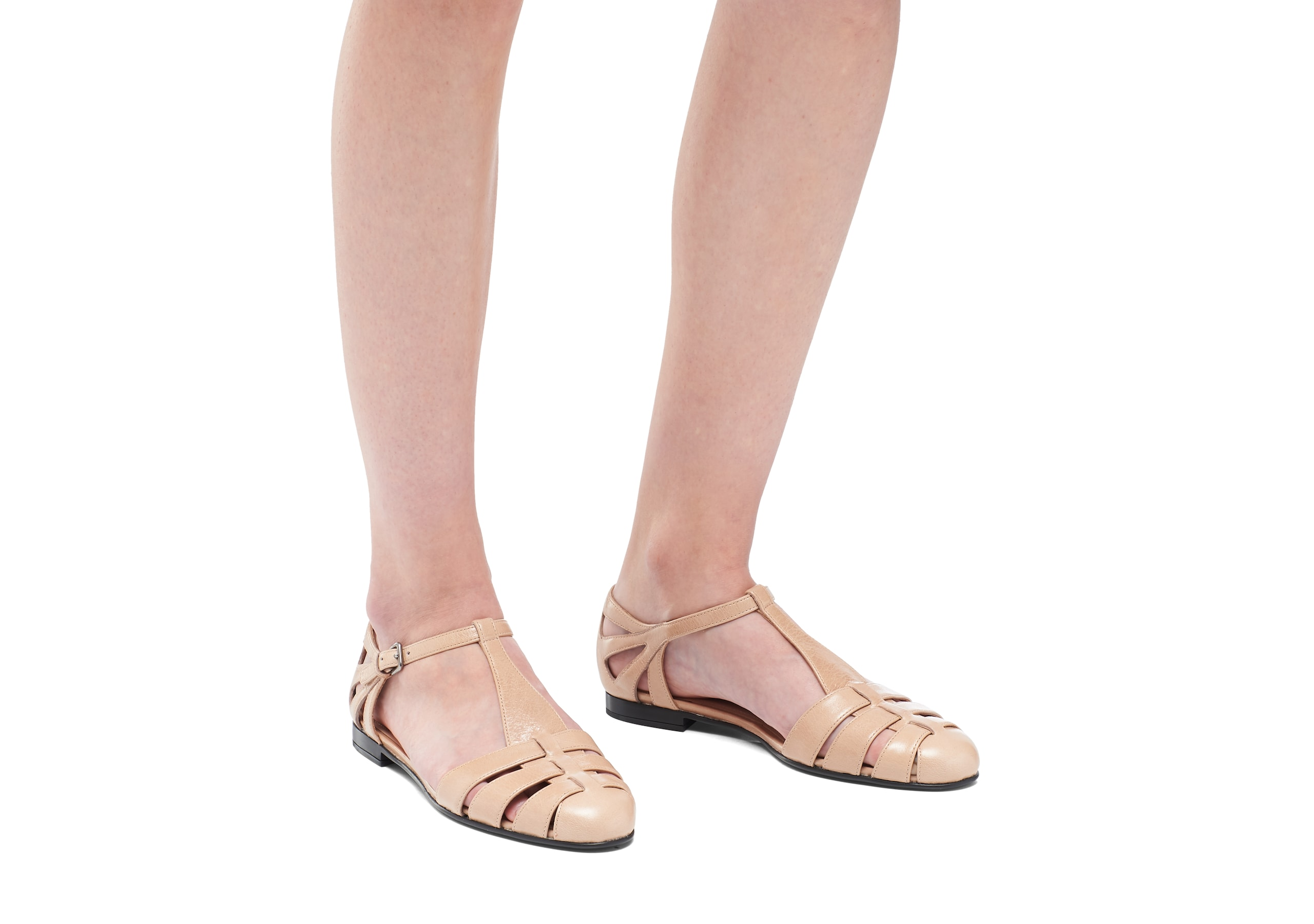 Rainbow Church's Shine Calf Leather T-Bar Sandal Pink