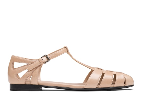 Church's  Shine Calf Leather T-Bar Sandal Pink