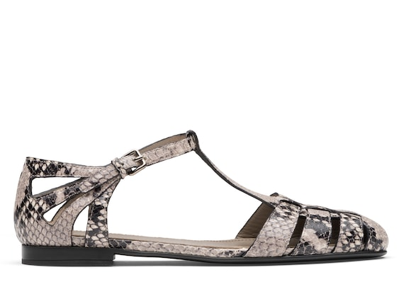 Church's Rainbow T-Bar Sandal Python Print Stone