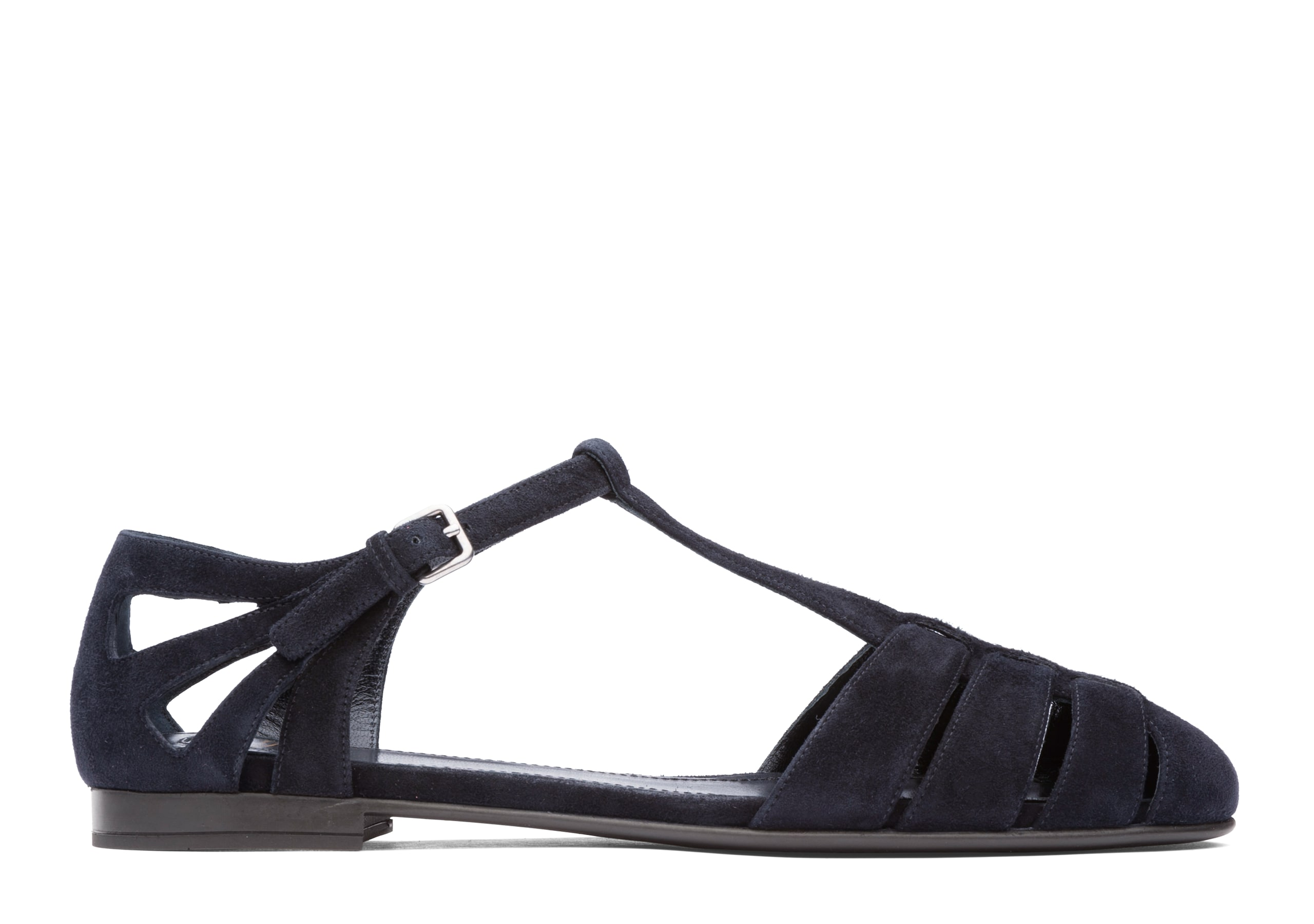 Rainbow Church's Suede T-Bar Sandal Black