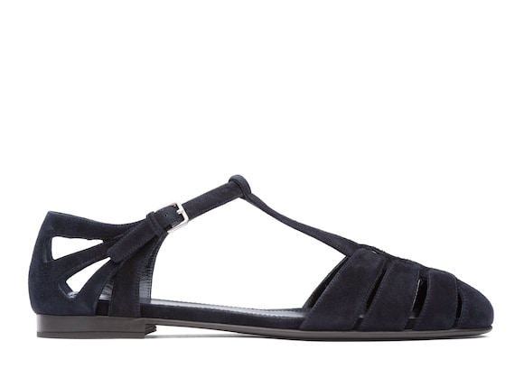 Church's true Suede T-Bar Sandal Black