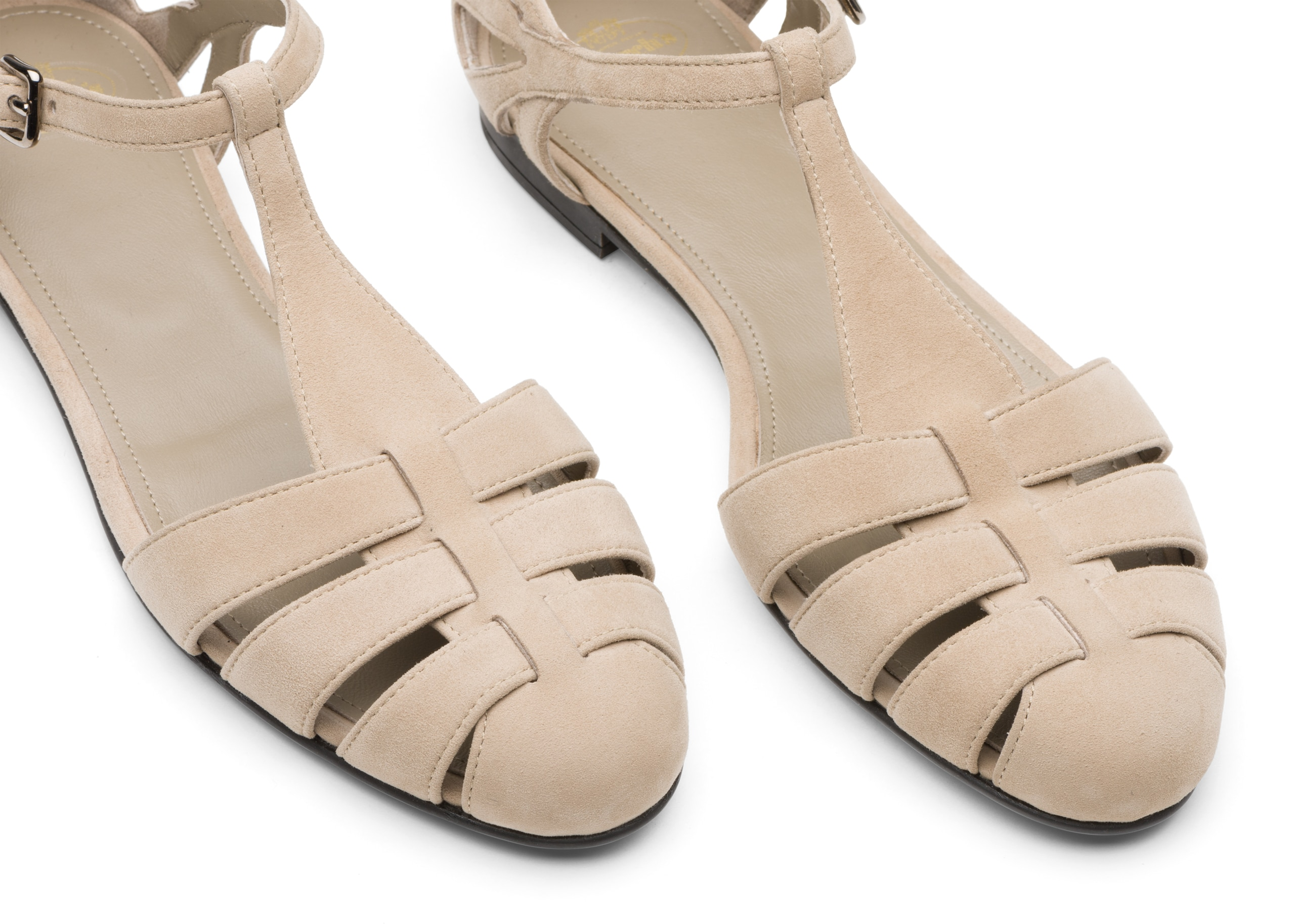 Rainbow Church's Suede T-Bar Sandal Neutral