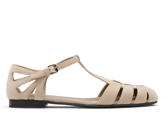Church's Rainbow Suede T-Bar Sandal Stone
