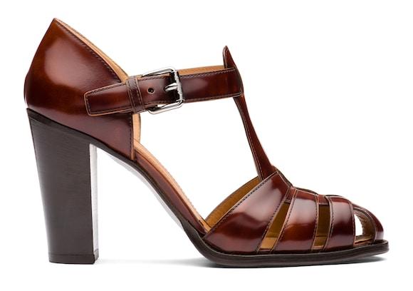 Polished Fumè Heeled Sandal