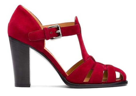 Church's true Suede Heeled Sandal Red