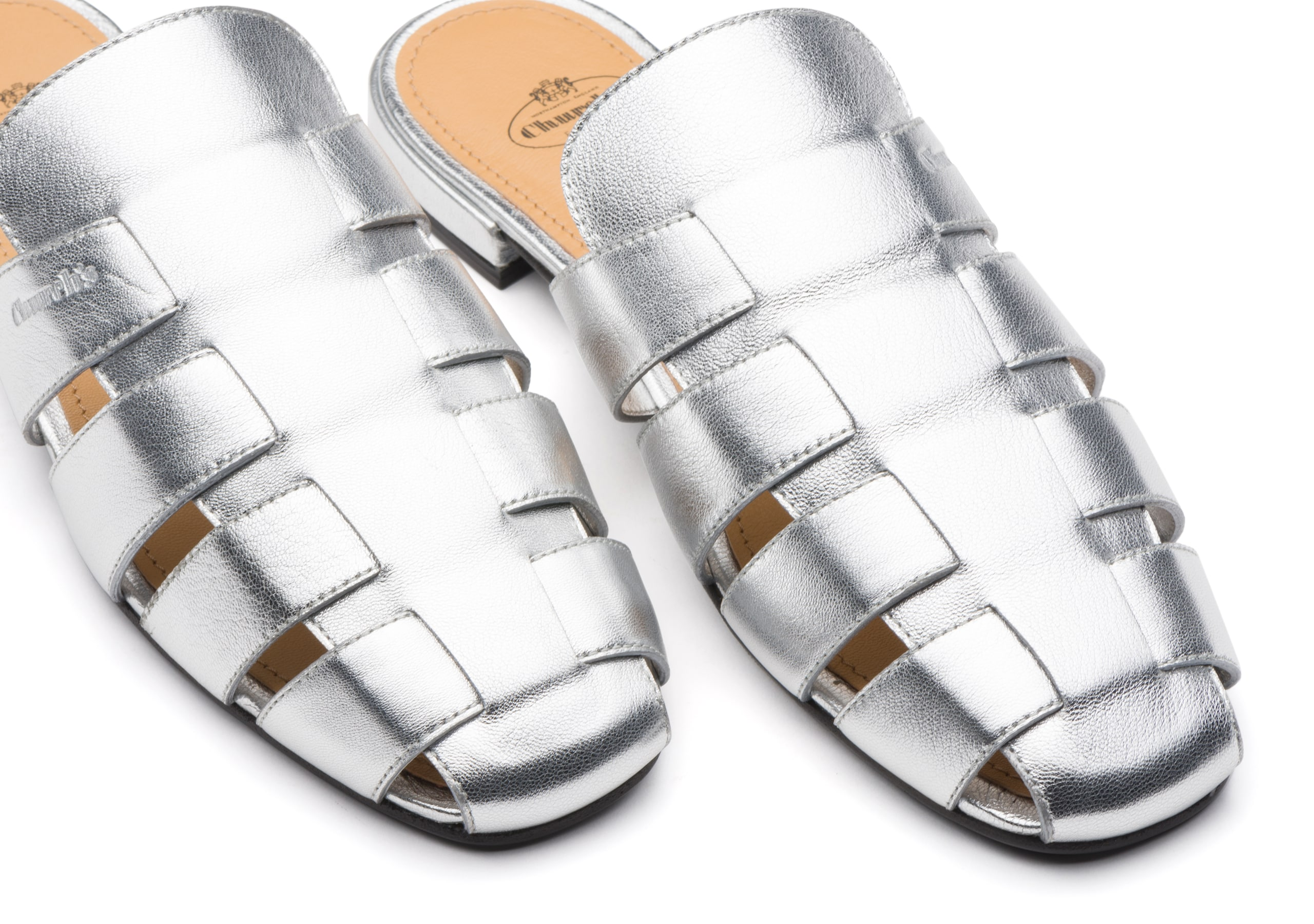Becky Church's Nappa Leather Mule Sandal Gold/silver