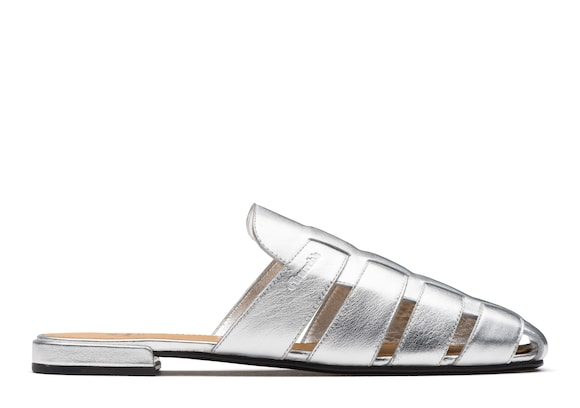 Church's Becky Nappa Leather Mule Sandal Silver