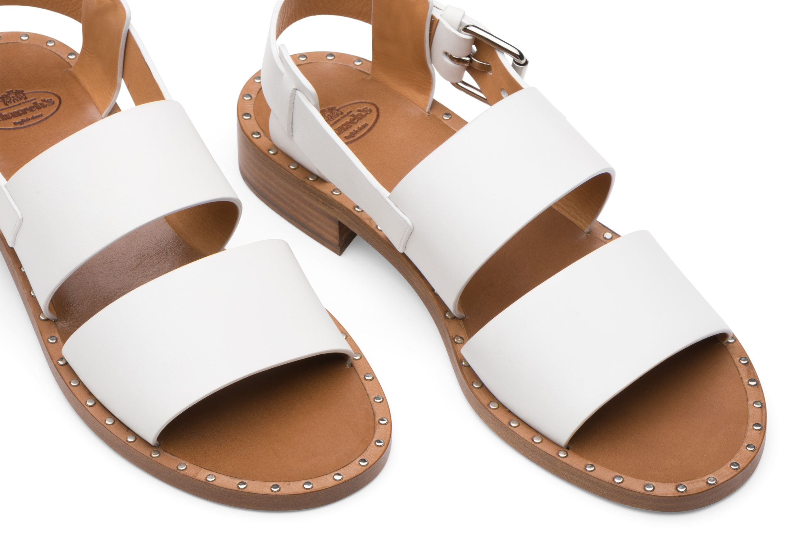Dalia Church's Calf Leather Sandal White