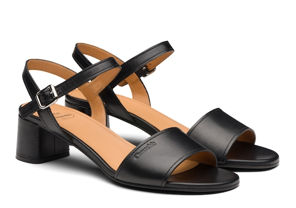 Church's Debbie Calf Leather Mid Heel Sandal Black
