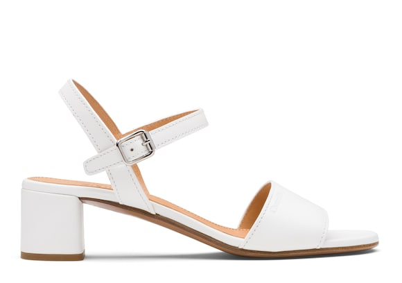 Church's Debbie Calf Leather Mid Heel Sandal White