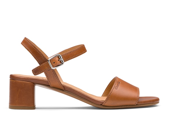 Church's Debbie Calf Leather Mid Heel Sandal Oak