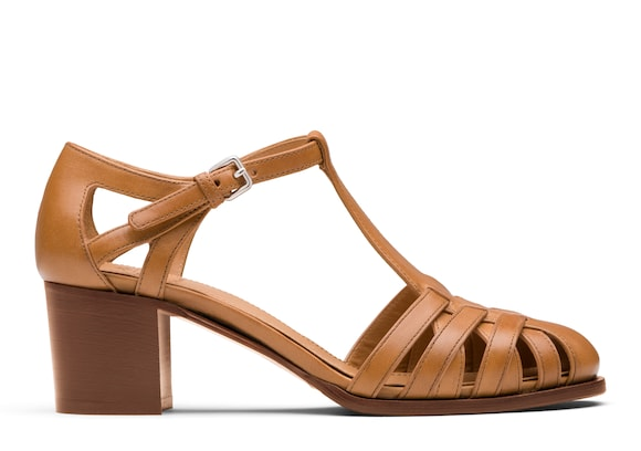 Church's  Smart Nappa Leather Mid Heel Sandal Natural