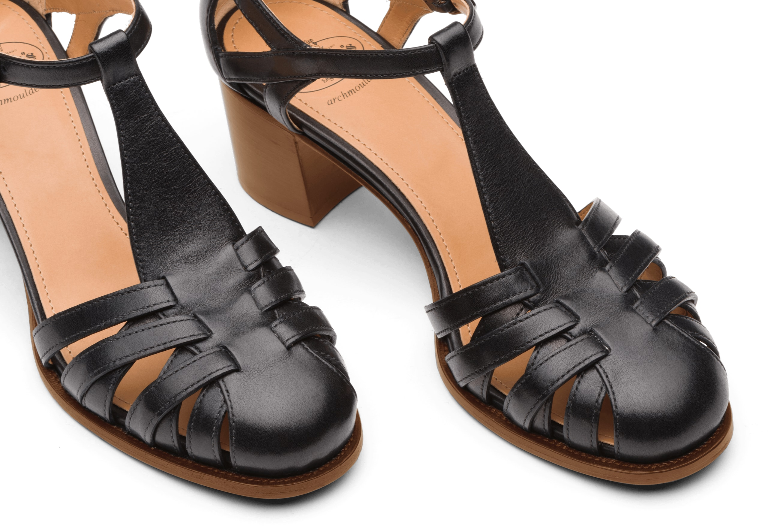 Deanne 50 Church's Smart Nappa Leather Mid Heel Sandal Black