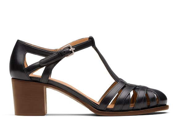Church's  Smart Nappa Leather Mid Heel Sandal Black