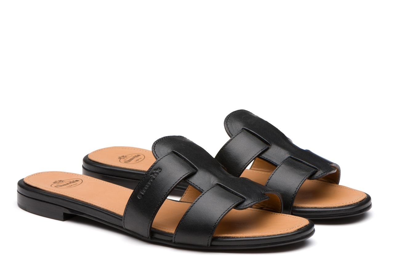 Dee dee Church's Calf leather slip on sandal Black