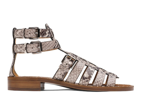 Church's Deb Printed Python Gladiator Sandal Stone