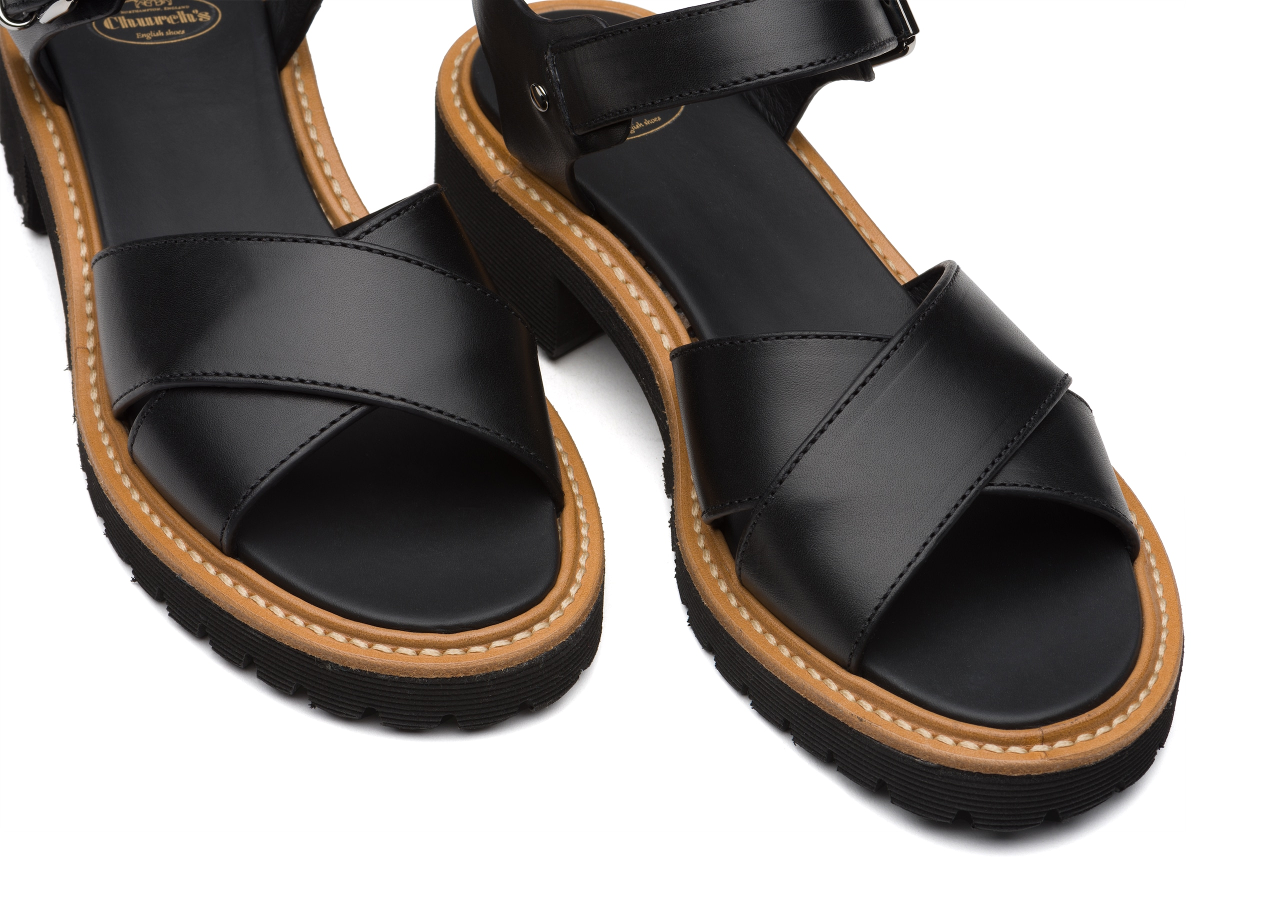 Gaia Church's Monteria Calf Lightweight Sandal Black