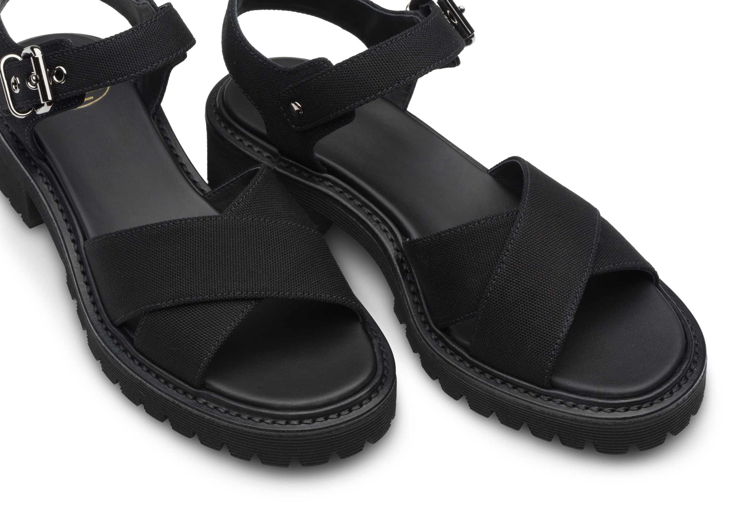 Gaia Church's Canvas Lightweight Sandal Black